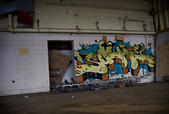 meezy. (Scotty Cash) Tags: dark graffiti colours spaces 2010 sueme ninelives