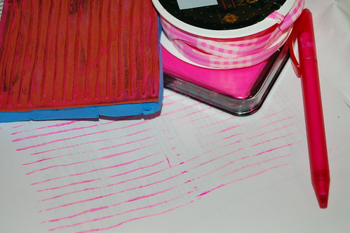 Pink writing lines (Photo by iHanna - Hanna Andersson)