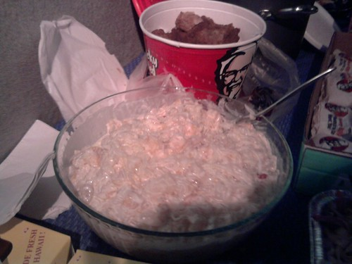 Buko Coconut And Fruit Salad And Kfc Chicken In The