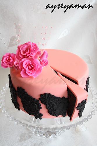 Pink Black Cake