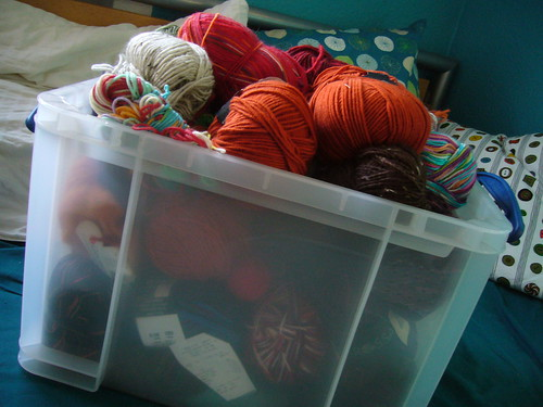 wool stash.