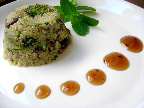 quinoa with mushrooms