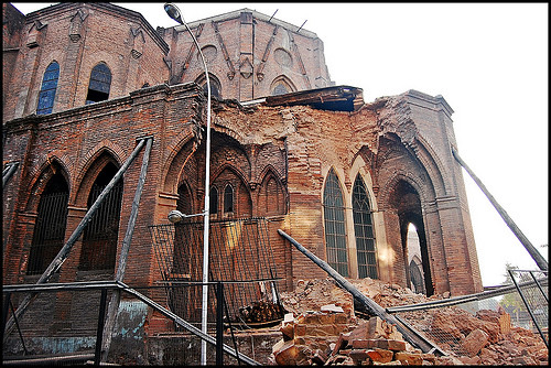 Earthquake in Chile cathedral