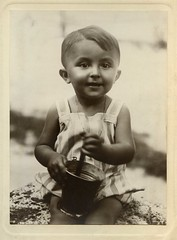 1926, summer. Mum's brother. (elinor04 thanks for 22,000,000+ views!) Tags: family boy vintage toys photo kid hungary child sandpit vintagefamilyphotocollection elinorsvintagefamilyphotocollection hungariancollection