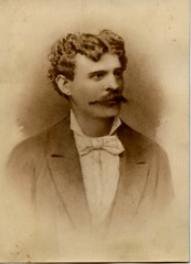 Late 1860s. My great-grandfather (elinor04) Tags: man vintage photo hungary cabinet moustache ancestor card mustache transylvania greatgrandfather 1860s gentleman 1870 brass