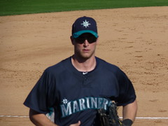 Michael Saunders at Mariners Spring Training