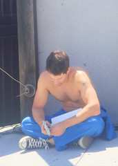 24ISH 0655 (danimaniacs) Tags: shirtless man hot cute sexy male guy pecs tattoo ink gun nipple muscle muscular