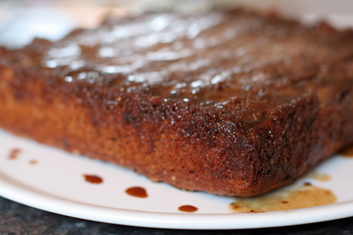 Banana & Chocolate Chip Upside-Down Cake