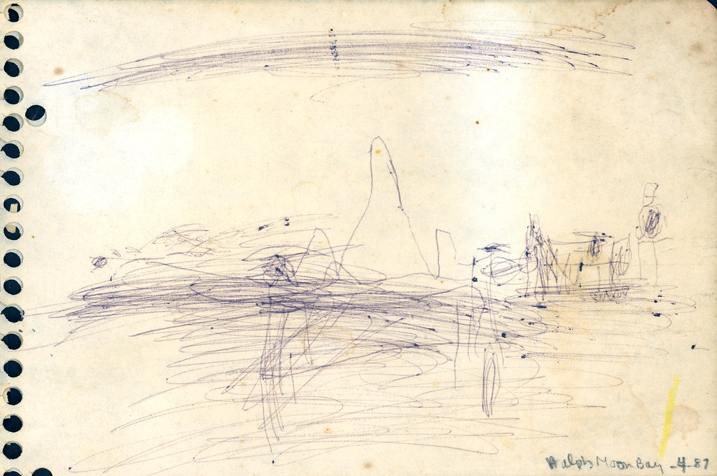 half moon bay drawing 1987