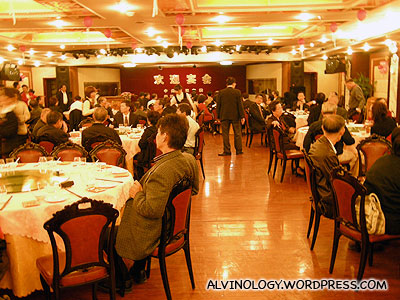 Inside the banquet hall