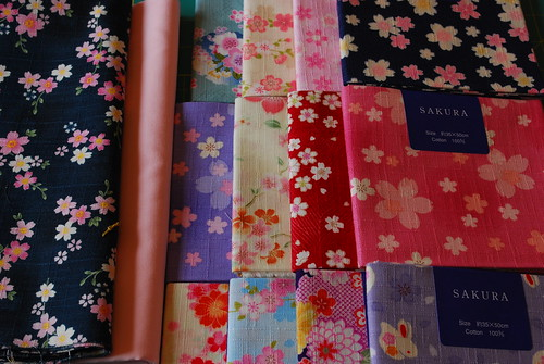 sakura fat quarters