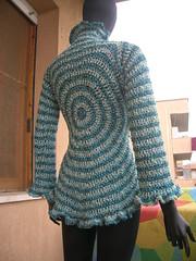 Ice Blue Circle Crochet Cardigan (babukatorium) Tags: color art ice fashion silver circle sweater handmade crochet moda style bow romantic cardigan maglia ruffle iceblue haken hkeln croch ganchillo uncinetto fattoamano lam  tii horgolt babukatorium