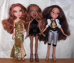 3 new arrivals (Bratz UK) Tags: movie flashback sasha yasmin fever bratz sportz meygan