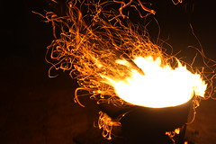 Fireline (Conceptual Photography) (Raymond Ignacio) Tags: fire photography flare streaks