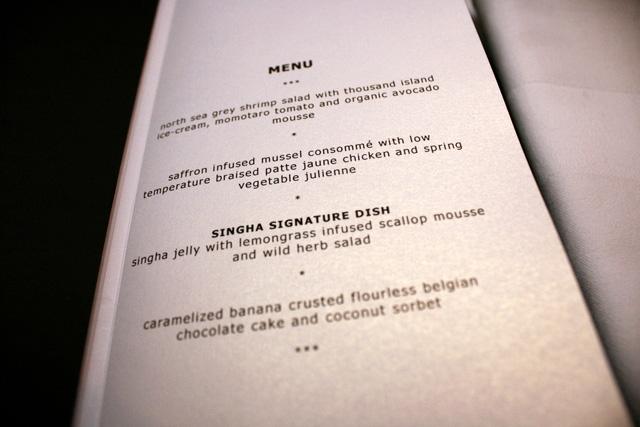 A delectable menu