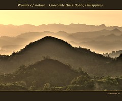 A wonder of nature ... Chocolate Hills, Bohol, Philippines (nigel_xf) Tags: nature fog sunrise nikon philippines natur harmony bohol dust nigel sonnenaufgang philippinen dunst chocolatehills harmonie d300 morgennebel nikond300 nigelxf