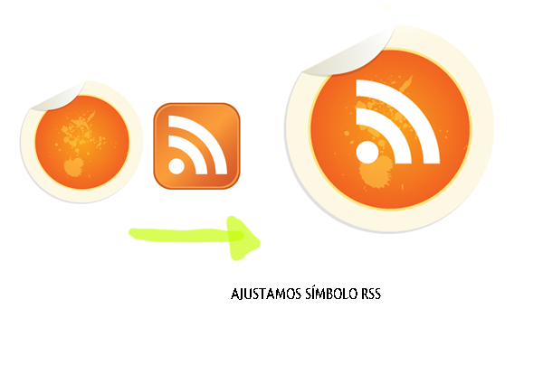 Tutorial Illustrator: Process to Create a stylish button sticker RSS and Final look