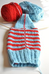 Burning stripes socks variation