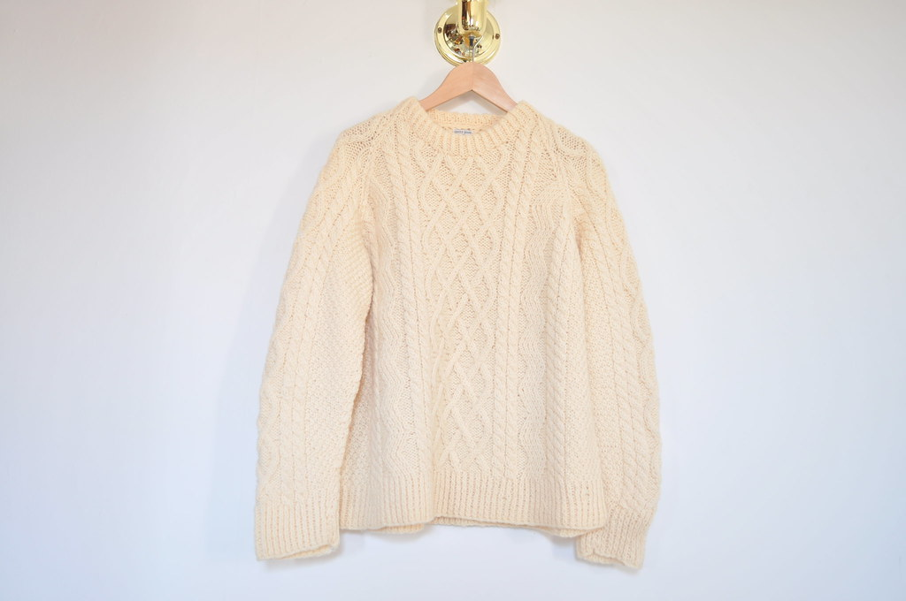 vintage chunky cream sweater