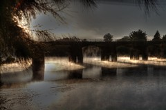 Another f'ing bridge !! (bradzo66) Tags: mist fog canon sydney australia nsw hawkesburyriver northrichmond hpotomatix