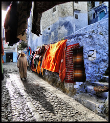 Chefchaouen, The Blue Town ! (Bashar Shglila) Tags: city blue mountain town morocco maroc chaouen chefchaouen marruecos rif chefchouen   chouen   5photosaday   theunforgettablepictures