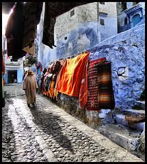 Chefchaouen, The Blue Town ! (Bashar Shglila) Tags: city blue mountain town morocco maroc chaouen chefchaouen marruecos rif chefchouen مدينة الوان chouen المغرب جبل 5photosaday شفشاون الريف theunforgettablepictures شاون