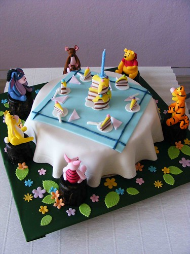 Winnie The Pooh and Co celebrating a Bday
