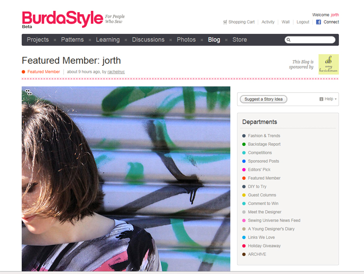 Burda Style Featured Member