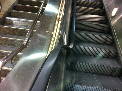 Broken escalator