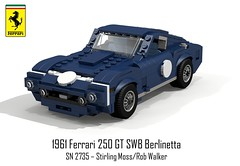 Ferrari 250 GT SWB Berlinetta SN 2735 - Stirling Moss - 1960 (lego911) Tags: auto italy classic car moss model italian italia lego stirling render ferrari gt viva coupe challenge 250 cad racer lugnuts 76 1960 povray swb moc berlinetta ldd vivaitalia miniland stirlingmoss 2735 sefac lego911 vision:mountain=0596 vision:outdoor=099