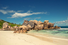 Anse Coco, La Digue, Seychelles (Dragstar70) Tags: seychelles rocks water indian ocean ladigue travel travelphoto reisen landschaftsfotografie sony alpha sonyalpha nature turquoise paradise blue sky