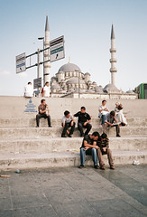 istanbullus (immu) Tags: people men turkey europe istanbul mosque cami istanbl yeni galata yenicami eminönu