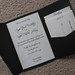 Black & Champagne Personalized Pocket fold Wedding Invitation 5x7
