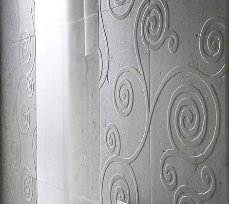 Natural Marble Tiles - low relief marble tiles from Italian Q-bo