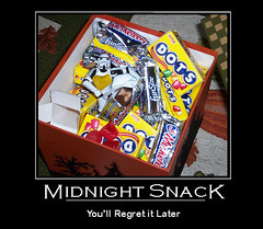 Midnight Snack (darkkittykat) Tags: halloween poster toy toys star candy action snack midnight figure stormtrooper wars dots musketeers motivational tk7707