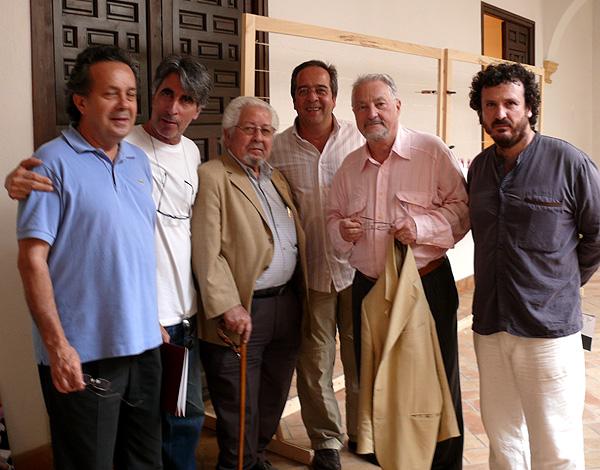 De izquierda a derecha: Francisco Jarauta, Nacho Criado, Antonio Povedano, yo mismo, el antropólogo y filósofo Marc Augé y mi socio y sin embargo amigo Esteban Ruiz.