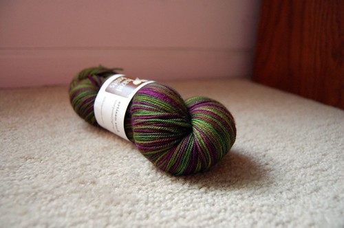 Hazel Knits Artisan Sock, Purple Hazel