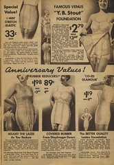 Sears catalogue 1935 - Foundation garments, reducers & girdles (genibee) Tags: woman vintage 1930s underwear sears foundation figure catalog catalogue elastic 1935 reduce girdle slimming reducer