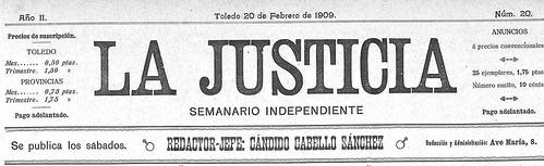 Portada de La Justicia