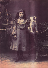 Image titled Annie Taylor with Jackie the dog, 1907.