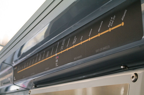 Gold Line trains are now outfitted with the complete map, highlighting the 21 stops from Pasadena to East L.A.