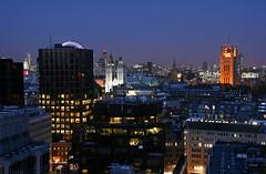 London Westminster (david.bank (www.david-bank.com)) Tags: uk england london westminster westminsterabbey twilight cathedral dusk cityhall stpauls londoneye bigben bluehour victoriatower