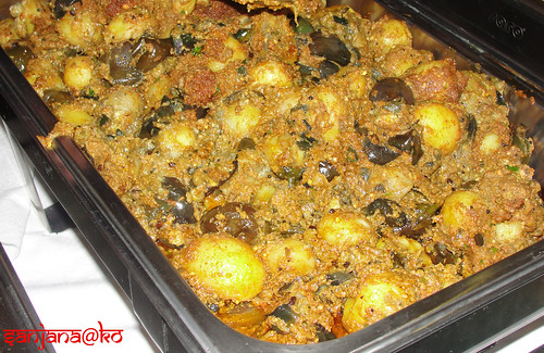 Potato and aubergine curry- Chetna's Sweets Catering
