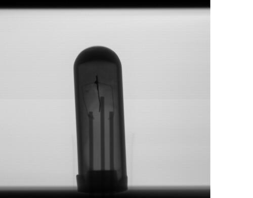 Xray image of an old  Mullard OC44 transistor