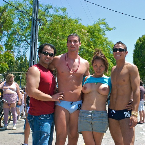 naked in public galleries nudity fetish pics: public, titsout, gayprideparade, breasts, topv, publicnudity, tits, lagaypride