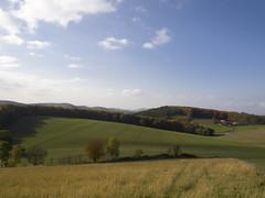 Valley of Light (rogiro) Tags: blue autumn trees sky white green clouds germany deutschland october valley westfalen niedersachsen nordrhein kalletal