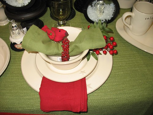 Holiday Table Setting 2009