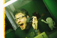 Lomo 10▸01 (ukaaa) Tags: selfportrait reflection green film me analog 35mm myself mirror student lomo lca lomography fuji superia room negative burn fujifilm pointandshoot analogue 135 uka ghent gent kot fujicolor superia200 ukaaa