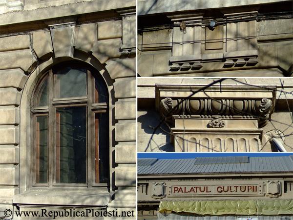 Detalii de pe fatada Palatului Culturii