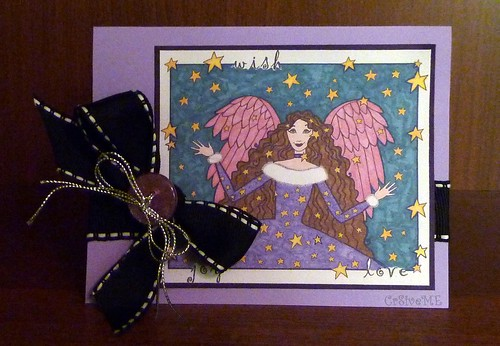 Wishing angel card